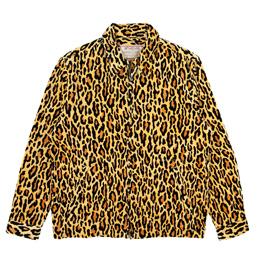 Wacko Maria Leopard Velour Drizzler Jacket Beige