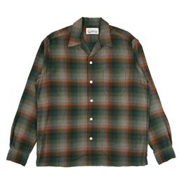 Wacko Maria Ombray Check Collar Shirt Green