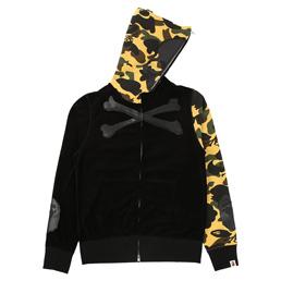 BAPE x MMJ Velvet Full Zip Hoodie Yellow
