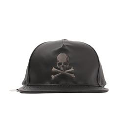 BAPE x MMJ Leather Cap Black