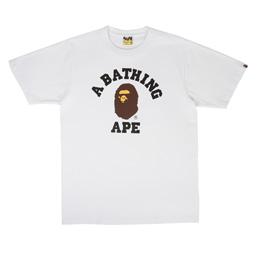 BAPE College T-Shirt White