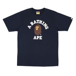 BAPE College T-Shirt Navy