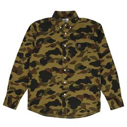 BAPE 1st Camo Borad BD Shirt Green