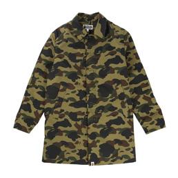 BAPE 1st Camo Rain Coat Green