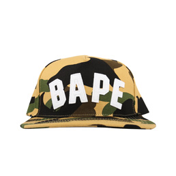 BAPE 1st Camo Snapback Cap Yellow