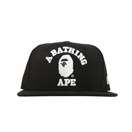 BAPE College New Era Cap Black