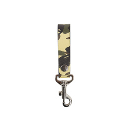 Bape 1st Camo Leather Key Holder Yellow