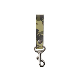 Bape 1st Camo Leather Key Holder Green
