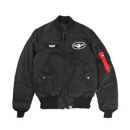 BAPE 1st Camo Alpha Ma-1 Jacket Black