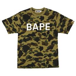 BAPE 1st Camo Bape T-shirt Green