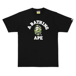 BAPE ABC Camo College T-Shirt Black/ Green