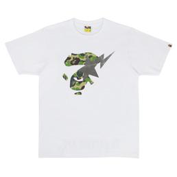BAPE ABC Camo Ape Face On Bapesta T-Shirt White