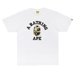 BAPE 1st Camo College T-Shirt White