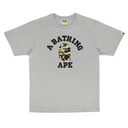 BAPE 1st Camo College T-Shirt Grey