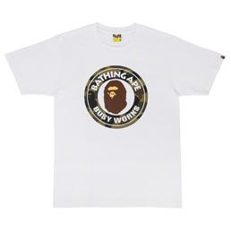BAPE 1st Camo Busy Works T-Shirt White/Green