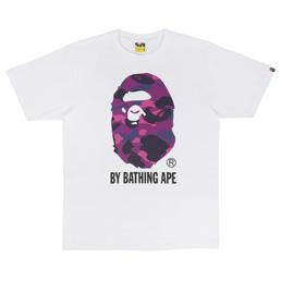 BAPE Color Camo By Bathing T-Shirt White/ Purple