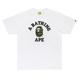 BAPE Tiger Camo College T-Shirt White