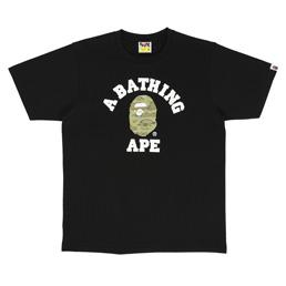 BAPE Tiger Camo College T-Shirt Black