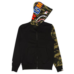 BAPE Shark Full Zip Hoodie Black
