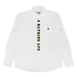 BAPE 1st Camo Applique Oxford BD Shirt White