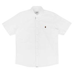 BAPE Ape Head One Point Oxford BD Shirt White