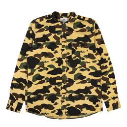 BAPE 1st Camo Band Collar Shirt Yellow