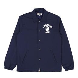 BAPE College Coach Jacket Navy