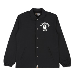 BAPE College Coach Jacket Black