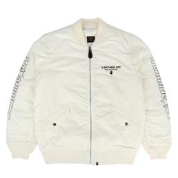 BAPE Bomber Jacket White