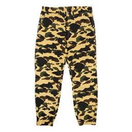 BAPE 1st Camo Jogger Pants Yellow
