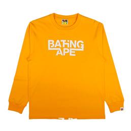 BAPE Bathing Ape L/S T-Shirt Orange