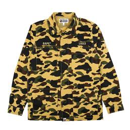 BAPE 1st Camo ATS Military Shirt Yellow