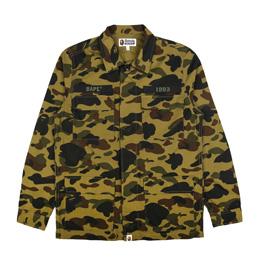 BAPE 1st Camo ATS Military Shirt Green