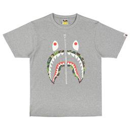 BAPE ABC Shark T-Shirt Grey/ Green