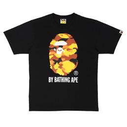 BAPE 1st Camo By Bathing T-Shirt Black/Orange