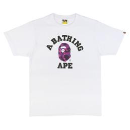 BAPE Color Camo College T-Shirt White
