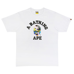 BAPE Multi Camo College T-Shirt - White