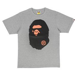 BAPE Colours Big Ape Head T-Shirt Grey