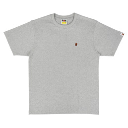 BAPE Ape Head One Point T-Shirt - Grey