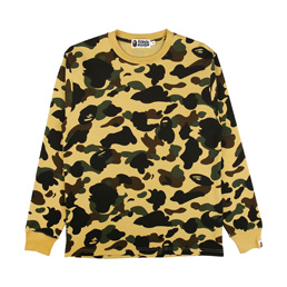 BAPE 1st Camo Thermal L/S T-Shirt - Yellow