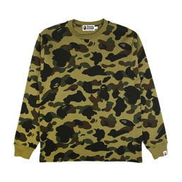 BAPE 1st Camo Thermal L/S T-Shirt - Green