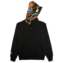 BAPE Shark Full Zip Hoodie - Black