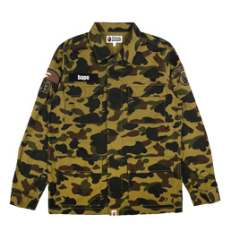 BAPE 1st Camo Military Shirt Green