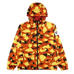 BAPE 1st Camo Reversible Hoodie Jacket Orange