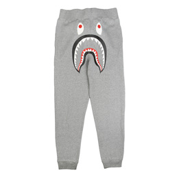 BAPE Shark Slim Sweat Pants Grey