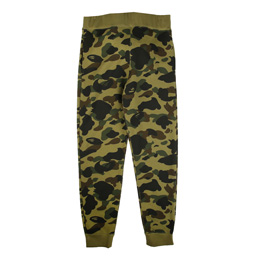 BAPE 1st Camo Slim Sweat Pants - Green