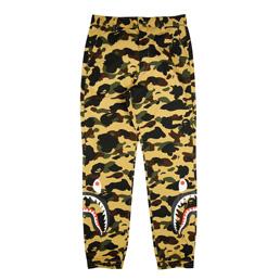 BAPE 1st Camo Shark Jogger Pants Yellow