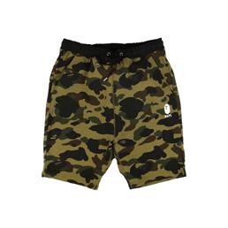 BAPE 1st Camo Sweat Shorts Green