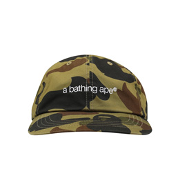 BAPE 1st Camo Embroidery Panel Cap Green