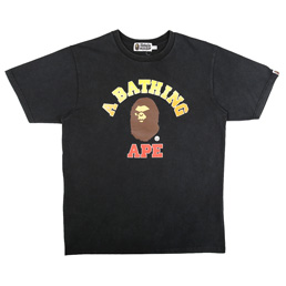 BAPE Vintage Washed T-Shirt - Black